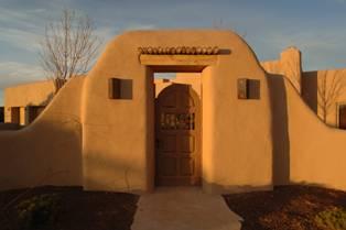 Santa Fe NM Pueblo Style Home